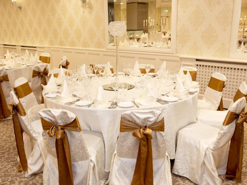 Wedding table set-up at Clybaun Hotel Galway wedding venue